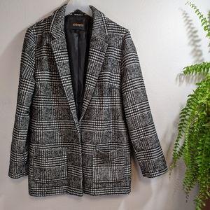 Ambiance Outerwear Menswear Plaid Jacket Large
